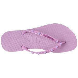 Havaianas slim flip flops 9 10 purple sandal thong